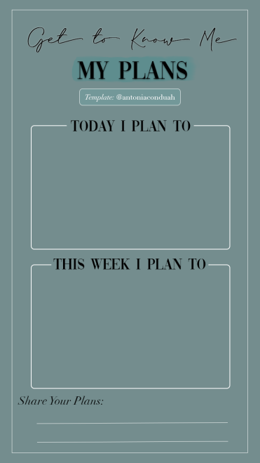 Get to know me Plans
