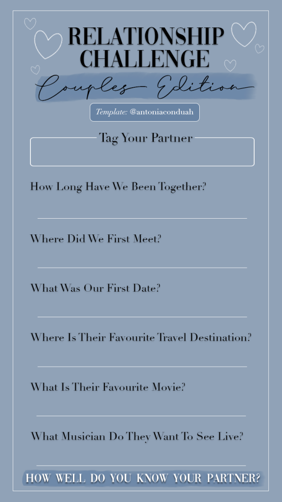 Other quiz about each for couples 45 Great