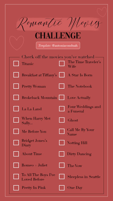 Romantic Movies Challenge